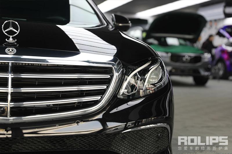 有您最放心的专业态度!奔驰E300L完美施工罗利普斯隐形车衣