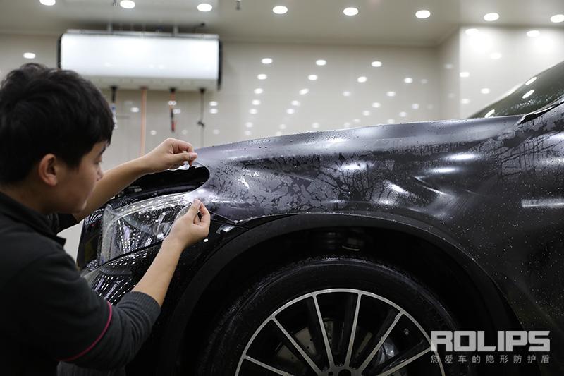"""罗利普斯ROLIPS隐形车衣护漆必备神器,奔驰GLC高修复隐形车衣完美施工中, 跟划痕说""""拜拜"""""""