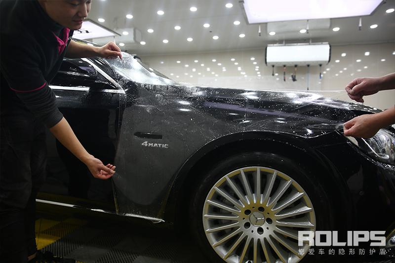 柔美曲线 力量展现 奔驰巅峰之作迈巴赫S450完美装贴罗利普斯隐形车衣