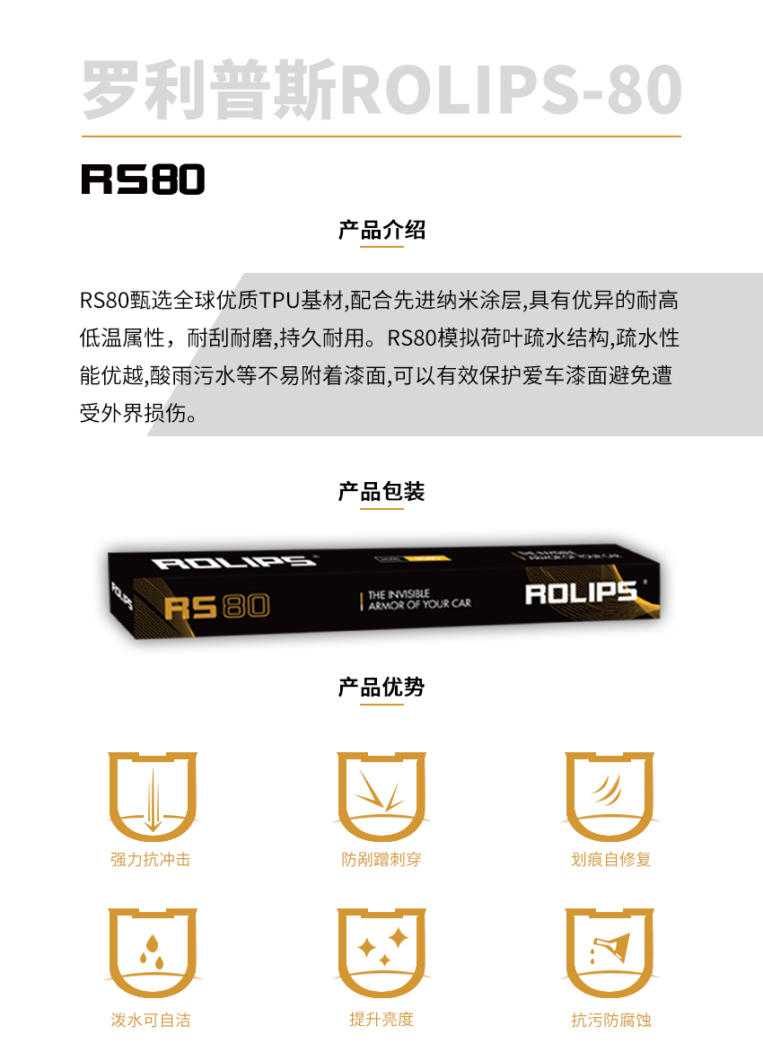 罗利普斯RS80隐形车衣